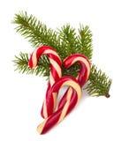 Κάλαμοι καραμελών Χριστουγέννων Στοκ Φωτογραφίες