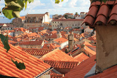 Κάλαμος roofes σε Duborvnik Στοκ Φωτογραφίες