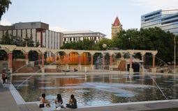 Κάλγκαρι ολυμπιακό Plaza στο στο κέντρο της πόλης Κάλγκαρι Στοκ εικόνες με δικαίωμα ελεύθερης χρήσης