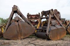 Κάδοι γερανών χειρισμού άνθρακα Στοκ Φωτογραφία