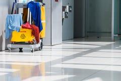 Κάδος και καθαρισμός Mop Στοκ Φωτογραφίες