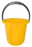 Κάδος που απομονώνεται πλαστικός - κίτρινος Στοκ εικόνα με δικαίωμα ελεύθερης χρήσης