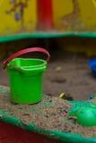 Κάδος στο Sandbox στοκ εικόνα