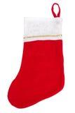 Κάλτσα Χριστουγέννων που απομονώνεται στο λευκό Στοκ φωτογραφία με δικαίωμα ελεύθερης χρήσης