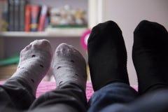 Κάλτσες ζεύγους στοκ εικόνες