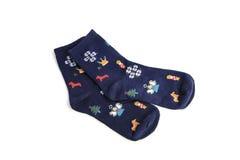 Κάλτσες που απομονώνονται στο άσπρο υπόβαθρο στοκ εικόνες με δικαίωμα ελεύθερης χρήσης