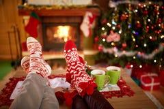 Κάλτσες Χριστουγέννων - έννοια στοκ εικόνες