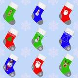 Κάλτσες Χριστουγέννων για τα δώρα Στοκ φωτογραφίες με δικαίωμα ελεύθερης χρήσης