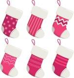 Κάλτσες Χριστουγέννων καθορισμένες Στοκ φωτογραφίες με δικαίωμα ελεύθερης χρήσης