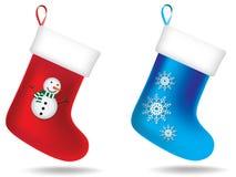 Κάλτσες Χριστουγέννων Στοκ Φωτογραφίες