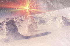 Κάλυμμα του χιονιού και του πάγου Στοκ Φωτογραφίες