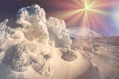 Κάλυμμα του χιονιού και του πάγου Στοκ Εικόνες