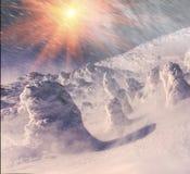 Κάλυμμα του χιονιού και του πάγου Στοκ Εικόνα