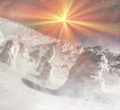 Κάλυμμα του χιονιού και του πάγου Στοκ φωτογραφία με δικαίωμα ελεύθερης χρήσης