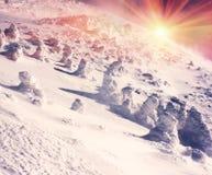 Κάλυμμα του χιονιού και του πάγου Στοκ Φωτογραφία
