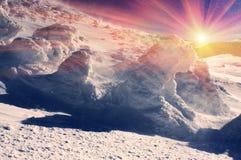 Κάλυμμα του χιονιού και του πάγου Στοκ φωτογραφίες με δικαίωμα ελεύθερης χρήσης