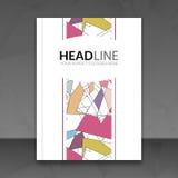 Κάλυψης εκθέσεων ζωηρόχρωμο υπόβαθρο σχεδίου φυλλαδίων γραμμών τριγώνων γεωμετρικό, περιοδικό ιπτάμενων κάλυψης, κάλυψη βιβλίων φ διανυσματική απεικόνιση