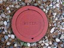 Κάλυψη για την πρόσβαση χρησιμότητας νερού Στοκ φωτογραφία με δικαίωμα ελεύθερης χρήσης