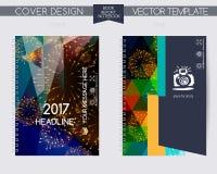 Κάλυψη και σελίδα της ετήσια έκθεσης Στοκ Εικόνες