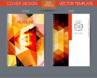 Κάλυψη και σελίδα της ετήσια έκθεσης Στοκ Εικόνα