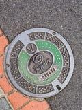 Κάλυψη καταπακτών σε Beppu, Ιαπωνία Στοκ φωτογραφίες με δικαίωμα ελεύθερης χρήσης