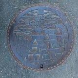 Κάλυψη καταπακτών Shirakawago Στοκ Εικόνα