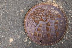 Κάλυψη καταπακτών Shirakawago Στοκ εικόνα με δικαίωμα ελεύθερης χρήσης