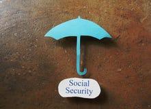 Κάλυψη κοινωνικής ασφάλισης Στοκ φωτογραφία με δικαίωμα ελεύθερης χρήσης