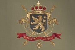 Κάλυψη του Βελγίου των όπλων στοκ εικόνες