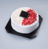 κέικ ή κέικ για τις διακοπές σε ένα υπόβαθρο Στοκ Εικόνες