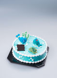 κέικ ή κέικ για τις διακοπές σε ένα υπόβαθρο Στοκ εικόνες με δικαίωμα ελεύθερης χρήσης