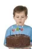 κέικ αγοριών γενεθλίων Στοκ Εικόνα