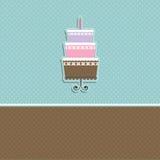 κέικ ανασκόπησης χαριτωμέν& Στοκ Φωτογραφία