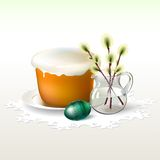 Κέικ, αυγό και ιτιά Πάσχας Στοκ Εικόνα