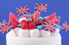 Κέικ βρετανικού εορτασμού Στοκ Εικόνα