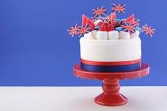 Κέικ βρετανικού εορτασμού Στοκ Εικόνες