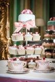 Κέικ γαμήλιων φλυτζανιών Στοκ Εικόνες