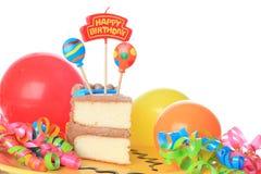 κέικ γενεθλίων ευτυχές Στοκ Εικόνες