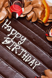 κέικ γενεθλίων ευτυχές Στοκ Εικόνα