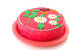 κέικ γενεθλίων εύθυμο Στοκ φωτογραφία με δικαίωμα ελεύθερης χρήσης
