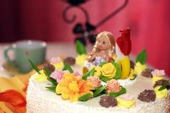 κέικ γενεθλίων Στοκ Φωτογραφία