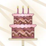 κέικ γενεθλίων Στοκ Εικόνα