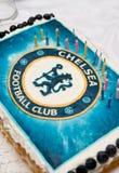 Κέικ γενεθλίων για τον ανεμιστήρα της Chelsea Στοκ Εικόνες