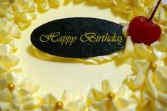 Κέικ γενεθλίων εορτασμού Στοκ εικόνα με δικαίωμα ελεύθερης χρήσης