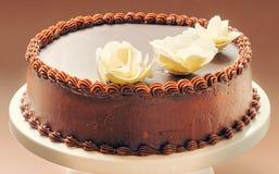 Κέικ γενεθλίων σοκολάτας Στοκ Εικόνες