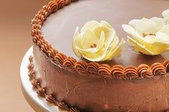 Κέικ γενεθλίων σοκολάτας Στοκ εικόνα με δικαίωμα ελεύθερης χρήσης