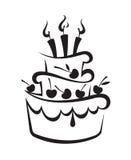 Κέικ γενεθλίων Στοκ φωτογραφία με δικαίωμα ελεύθερης χρήσης