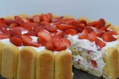 Κέικ γιαουρτιού φραουλών Στοκ φωτογραφία με δικαίωμα ελεύθερης χρήσης