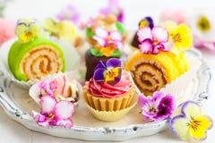 Κέικ για το τσάι απογεύματος Στοκ εικόνα με δικαίωμα ελεύθερης χρήσης