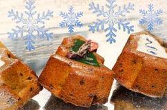 Κέικ διακοπών Χριστουγέννων Στοκ φωτογραφίες με δικαίωμα ελεύθερης χρήσης